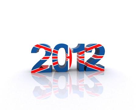 drapeau anglais: 2012 avec la texture du drapeau anglais