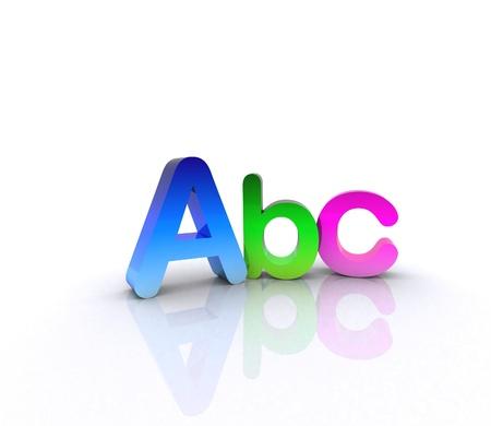 Abc - 3D Stock Photo - 12467556
