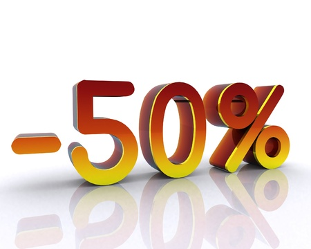 fifty percent off Stock Photo - 12748462
