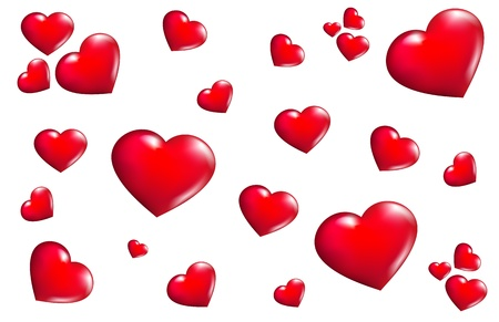 Texture hearts Vector