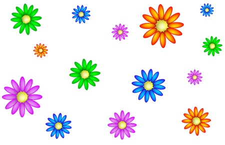 lively: Texture daisies
