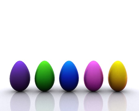 Colored eggs Stock Photo - 12748546
