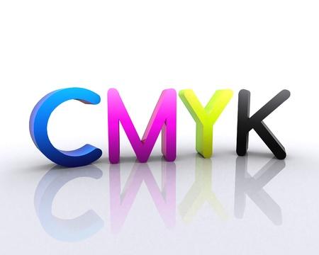 CMYK - 3D Stock Photo - 12748557