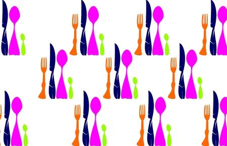 Texture Cutlery  Vector