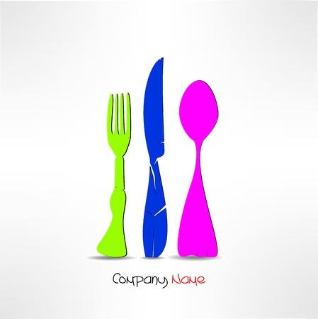 mediterranean food: Cutlery  Illustration