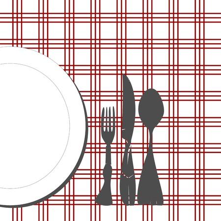 A la mesa Ilustración de vector