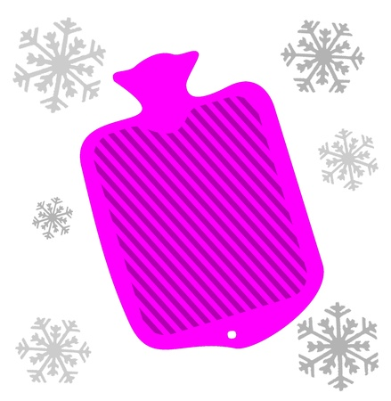 boiling water: Hot water bottle Illustration