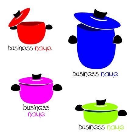 Logos - pots Vector