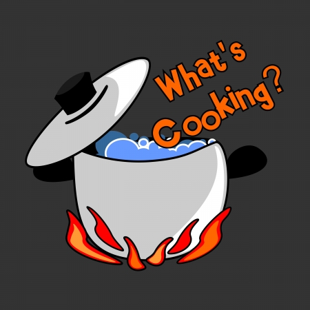Question  What s cooking Stock Vector - 12854186