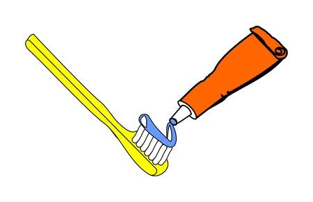 pasta de dientes: El cuidado de su higiene Vectores