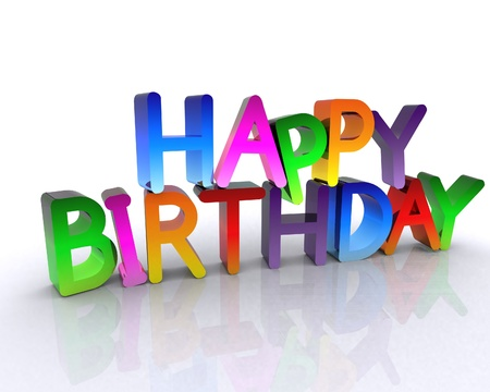 Happy Birthday - 3D Stock Photo - 12748564