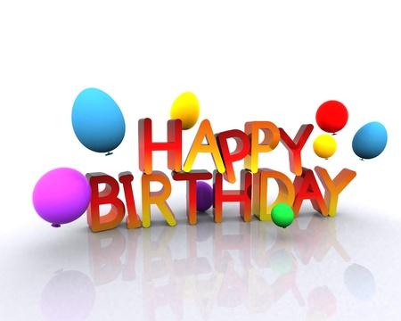 post card: Happy Birthday - 3D