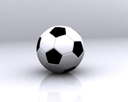 olympic stadium: Soccer Ball Stock Photo