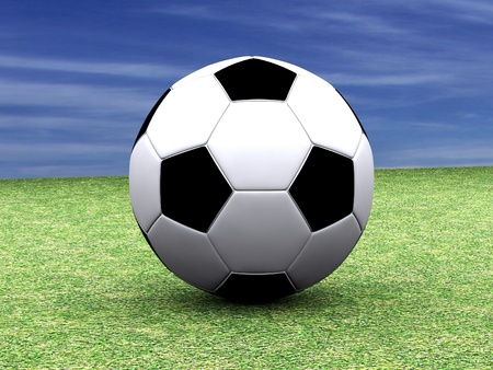 ascent: Soccer Ball Stock Photo