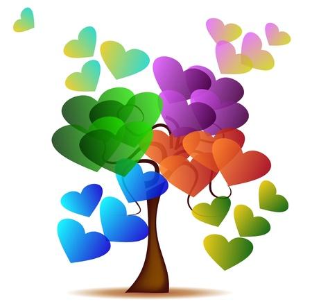 사랑의 나무 일러스트