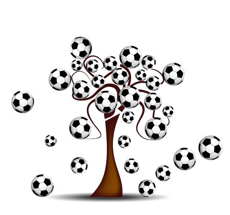 Tree with footballs photo
