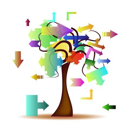 Tree Multidirectional Stock Vector - 12973847