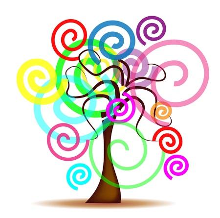 eg: Abstract tree Illustration