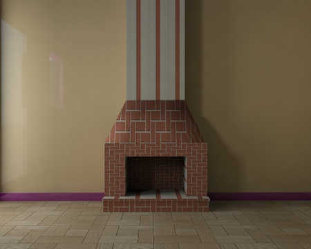 Room with fireplace photo