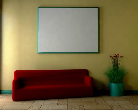 Living room - 3D photo