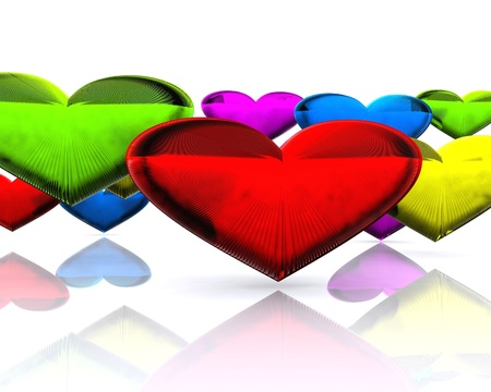 Colorful hearts  photo