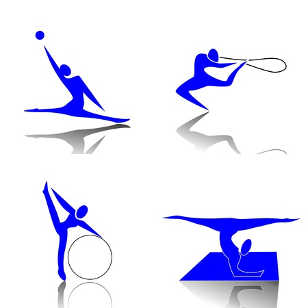 Rhythmic Gymnastics Vector