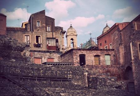 Roman Theatre of Catania Stock Photo - 13341505