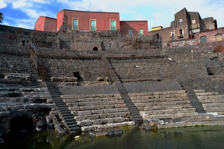 Roman Theatre of Catania Stock Photo - 13341512