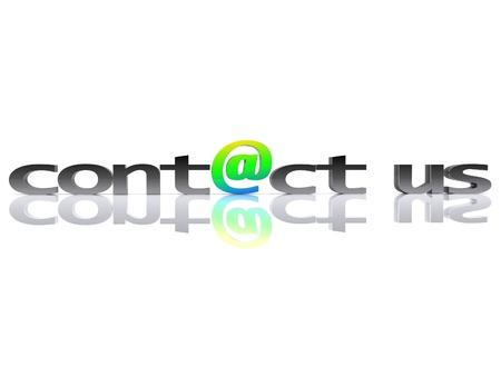 Contact us - 3D Stock Photo - 13425631
