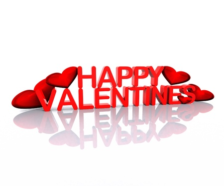 valentine's: Happy Valentine s - 3D Stock Photo
