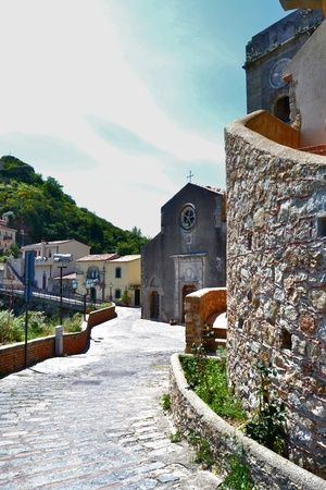 the godfather: Medieval Village of Savoca Stock Photo