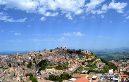 Panorama of the city of Enna, Sicily Stock Photo - 13594659