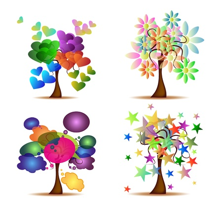 Set Original Trees Vector