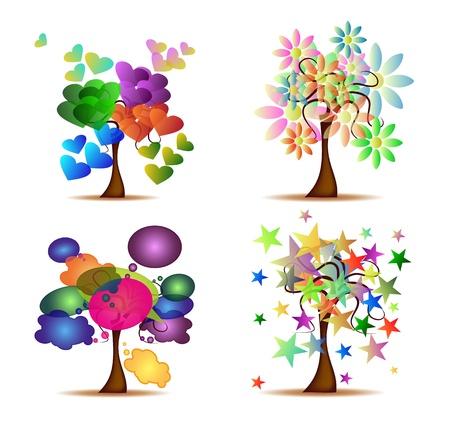 Zestaw oryginalnych Drzewa