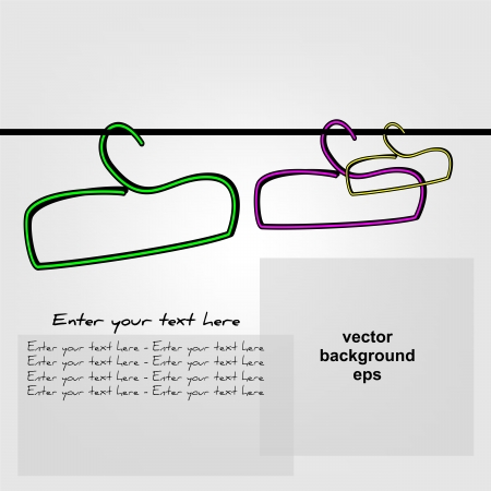 Background with hangers Vector