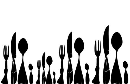 logos restaurantes: Textura Cubiertos Vectores
