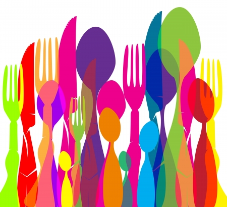 Texture Cutlery  Stock Vector - 13703332