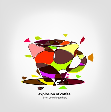 Background Explosion of coffee Vector