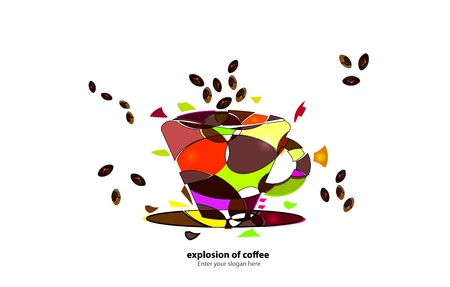 the bartender: Background - Explosion of coffee Illustration