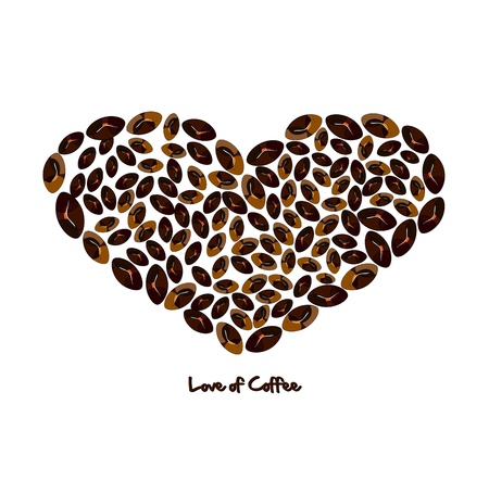 Love of coffee Vector