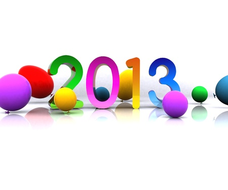 three wishes: 2013 - 3D Stock Photo