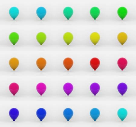 Balloons - 3D Stock Photo - 14126254