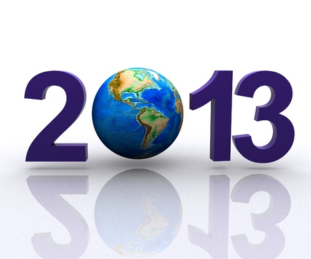tridimensional: Worldwide  celebrates the New Year Stock Photo