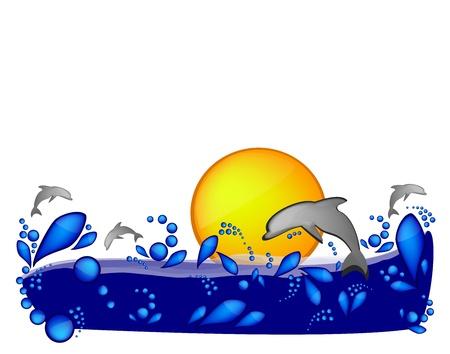 Decoración de verano Ilustración de vector