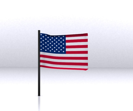 USA Flag - 3D photo