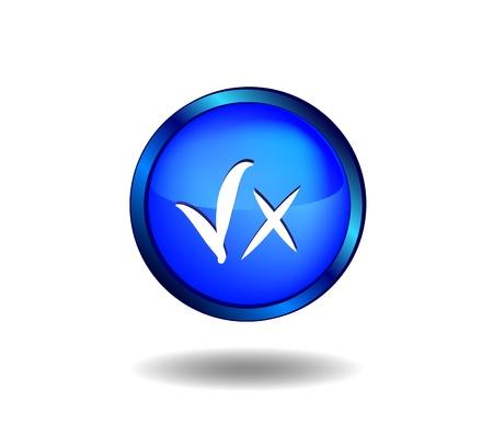 cancellation: Icon validity and cancellation Illustration
