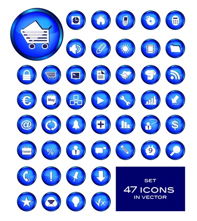 computer user: Set - Icons Business Illustration