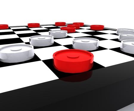 Checkers - 3D photo