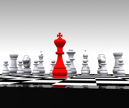 checkmate: 3D Chess - King Stock Photo