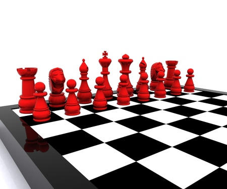 Chess 3d - Red  photo